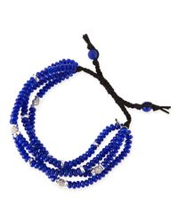 Tai | Blue 4-Strand Navy Agate Beaded Bracelet | Lyst