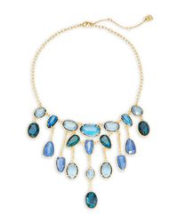 Lauren by Ralph Lauren | Blue Stone Collar Necklace | Lyst