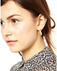 ASOS - Metallic Mini Filigree Hoop Earrings - Lyst