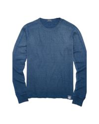 Polo Ralph Lauren - Blue Indigo Waffle Cotton Thermal for Men - Lyst