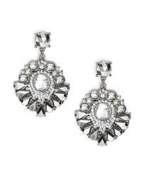 Catherine Stein   Metallic Gemstone Chandlier Earrings   Lyst