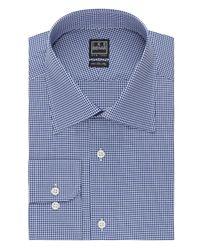 Ike Behar | Blue Mini Check Classic Fit Dress Shirt for Men | Lyst