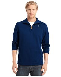 Izod | Blue Quarter-zip Pullover Fleece for Men | Lyst