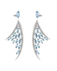 Shaun Leane | Blue Diamond, Aquamarine & White-Gold Earrings | Lyst