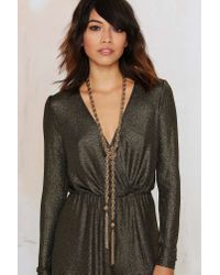 Nasty Gal - Metallic Learn The Ropes Chain Lariat Necklace - Lyst