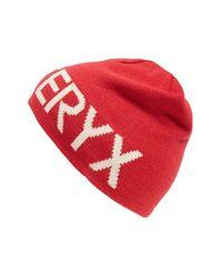 Arc'teryx - Red 'word Head' Reversible Beanie for Men - Lyst
