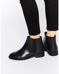 ASOS - Black Alaska Wide Fit Leather Ankle Boots - Lyst