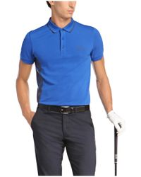 BOSS Green | Blue 'paule Pro' | Slim Fit, Moisture Manager Cotton Polo Shirt for Men | Lyst
