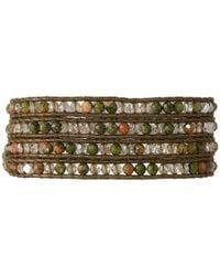 Chan Luu | Multicolor 32' Chinese Unakite Crystal Wrap Bracelet | Lyst