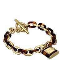 Michael Kors | Metallic Tortoise Status Link Toggle Bracelet | Lyst
