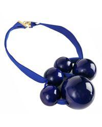 Marion Vidal | Klein Blue Ribbon Necklace | Lyst