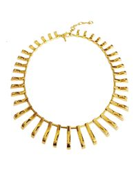Lele Sadoughi | Metallic Arcade 14k Gold-plated Necklace | Lyst