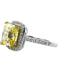 Carat* | Yellow Princess 4ct Borderset Ring | Lyst