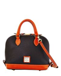 Dooney & Bourke | Black Bitsy Leather Colorblock Bowler Bag | Lyst