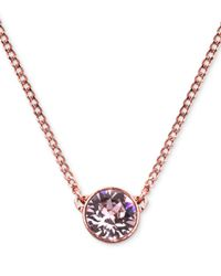 Givenchy | Pink Rose Gold-Tone Swarovski Silk Crystal Pendant Necklace - A Macy'S Exclusive | Lyst