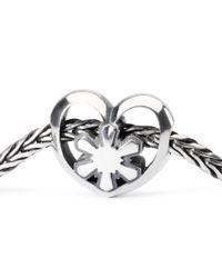 Trollbeads | Metallic Crystal Heart Silver Bead | Lyst