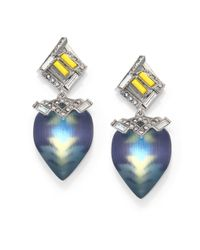 Alexis Bittar | Blue Neon Deco Lucite & Crystal Desert Drop Earrings | Lyst