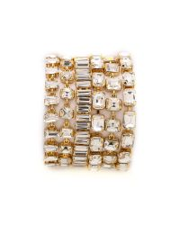kate spade new york | Metallic Vegas Jewels Bracelet - Clear | Lyst
