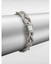 John Hardy | Metallic Classic Chain Sterling Silver Small Braided Bracelet | Lyst