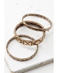 Forever 21 | Metallic -inspired Bracelet Set | Lyst