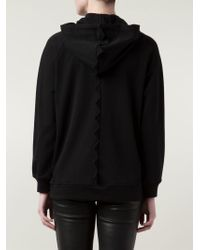 Boutique Moschino - Black Zip-Front Cotton Hoodie - Lyst