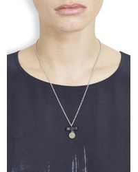 Marc By Marc Jacobs | Metallic Charmed Silver Tone Necklace | Lyst
