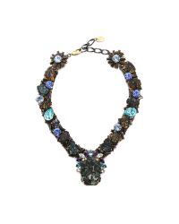 Erickson Beamon | Ripple Cascade Necklace - Green Multi | Lyst