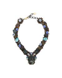 Erickson Beamon - Ripple Cascade Necklace - Green Multi - Lyst