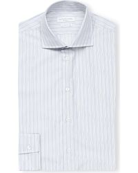 Richard James | Blue Contemporary-fit Spread-collar Cotton Shirt for Men | Lyst