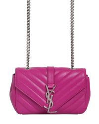 Saint Laurent | Purple Monogram Baby Quilted Leather Bag | Lyst