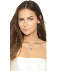 Ben-Amun | Metallic Crystal Pendant Necklace - Silver/clear | Lyst
