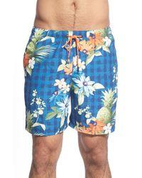 Tommy Bahama - Blue 'naples - Poipu Pineapple' Swim Trunks for Men - Lyst