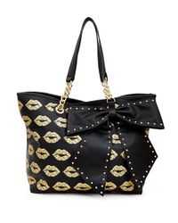 Betsey Johnson | Black Bowlette Tote | Lyst