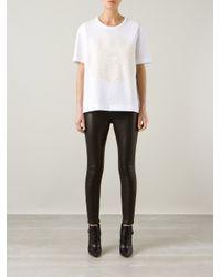 Hudson Jeans - Black Snakeskin Effect Skinny Trouser - Lyst