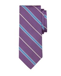 Brooks Brothers | Purple Mogador Alternating Bar Stripe Tie for Men | Lyst