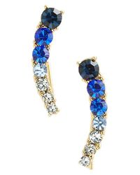 kate spade new york | Blue 'dainty Sparklers' Ear Crawlers | Lyst