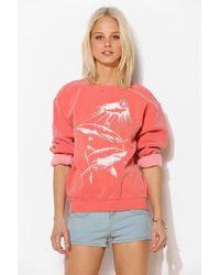 Obey - Orange Never Sleep Sweatshirt - Lyst