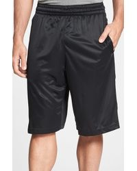 Nike | Black 'elite' Knit Basketball Shorts for Men | Lyst