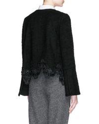 Thakoon - Black Lace Appliqué Wool Bouclé Jacket - Lyst