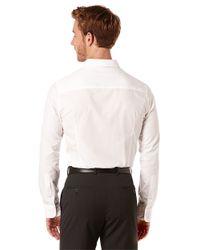 Perry Ellis | White Slim Fit Mini Diamond Sportshirt for Men | Lyst