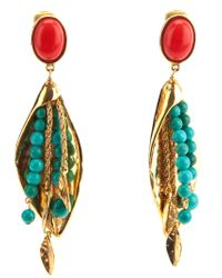 Aurelie Bidermann | Metallic 18Kt Gold Plated 'Monteroso' Clip-On Earrings | Lyst