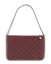 Stella McCartney | 'falabella' Quilted Pouch - Purple | Lyst