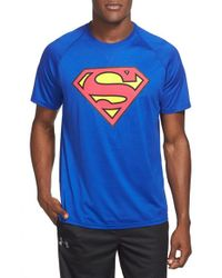 Under Armour - Blue 'alter Ego Core Superman' Graphic Training T-shirt for Men - Lyst