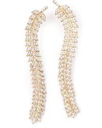 Joanna Laura Constantine - Metallic Leaf Earrings - Lyst