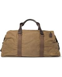 J.Crew - Brown Abingdon Waxed Cotton-Canvas And Leather Holdall for Men - Lyst