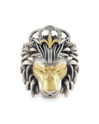 Konstantino | Metallic Mens Minos Sterling Silver & Gold Lion Head Pendant for Men | Lyst