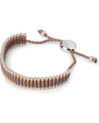 Links of London | Brown Friendship Bracelet Copper/grey - For Women | Lyst