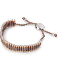 Links of London | Metallic Friendship Bracelet Copper/Grey - For Women | Lyst