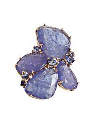 Federica Rettore - Blue Tanzanite Cluster Earrings - Lyst