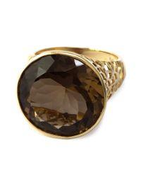 Effy - Metallic Smoky Quartz Ring In 14k Rose Gold - Lyst
